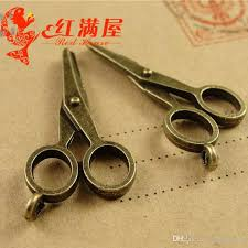 a3935 17 34mm antique bronze z scissors charms hand diy jewelry making whole handmade vintage pendants metal jewellery charm