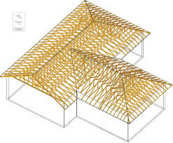 ilration of a prefabricated metal plated roof truss system