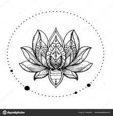 красивая восточные подробные лотос стильный идея татуировки