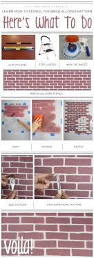 a diy stencil tutorial using the brick allover pattern