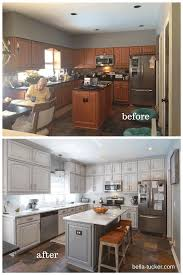 quartz countertops painted kitchen cabinets before and after lighting flooring sink faucet island backsplash subway tile marble cherry wood black raised