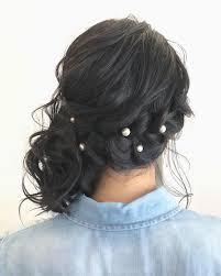 サイドアップ簡単ヘアアレンジ20選編み込みポニーテールまとめ髪2