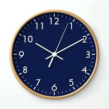 wall clocks pictures of wall clock navy blue minimalist by family