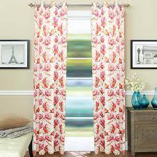 D Decor Curtains Designs Amazing Cotton Pink Flower Print D Decor Curtain Jain Handloom