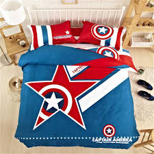 marvel avengers 100 cotton classical captain america bedding set kids bedding bedding twin full queeen king
