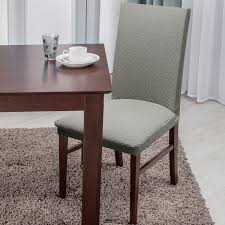 soft stretch form ing basket weave texture dining chair cover on orders over 45 overstock 15951974