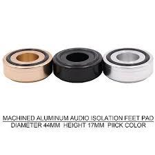 <b>1PC</b> AUDIO FEET MACHINED <b>ALUMINUM 44x17mm</b> Amplifier ...