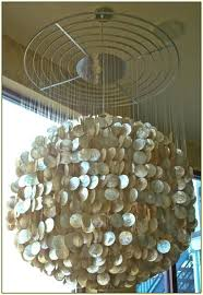 large capiz shell chandelier large shell chandelier