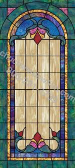 stained glass applique for church windows design in 14 in 14 plain