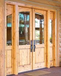 knotty pine entry door with sidelights solid wood front doors without glass