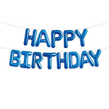 Blue Letters Uever Blue Happy Birthday Balloons Happy Birthday Banner Foil Letter Balloons For Birthday Decorations And Party Supplies
