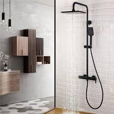 bathroom shower faucets. 2018 Matt Black 3 Functions Brass Bathroom Shower Set Bath Faucet 9 Inch Abs Head Adjust Arm From Qqq541278, $221.11   Dhgate.Com Faucets W