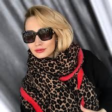 Designer Head Wraps Lakysilk Luxury Brand Leopard Cashmere Scarf Women Winter Warm Designer Ladies Fashion Pashmina Shawl Foulard Girls Head Scarves
