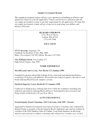 Cover Letter Sample Resume For Government Job Sample Resume For