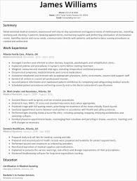 Medical Assistant Student Resume New Resume For Medical