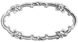 vintage frame design oval. Vintage Clip Art \u2013 Delicate Oval Frame Design V
