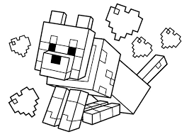 Howling wolves, hunting wolves, simple my wolf coloring pages are fun to customize. Wolf In Minecraft Coloring Page Free Printable Coloring Pages For Kids