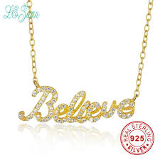 l zuan custom personalized 925 sterling silver jewelry collares