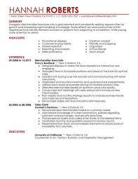 Merchandise Associate Resume Sample Associate Resumes Livecareer