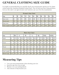 Vintage Clothing Size Chart General Vintage Clothing For Men And Women Size Chart