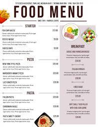 Food Menu Design Ideas How To Employ Creative Menu Design Ideas For Your Restaurant