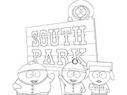 South Park Coloring Page Coloring Pages For Children