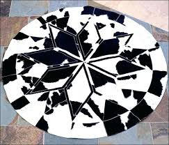 white circle rug for round rug black white pure cowhide leather patchwork 95 white round rug
