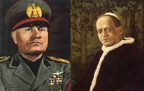 Image result for the pope and mussolini