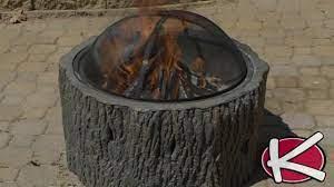 Tree Stump Fire Pit Youtube