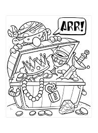 Piraat Vind Een Schat Kleurplaat