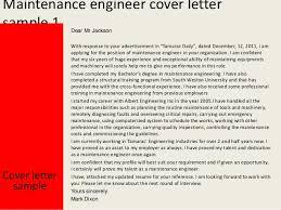 maintenance engineer cover letter maintenance engineer cover letter