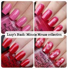 Opi Vintage Minnie Mouse Collection Review And Swatches Lucys Stash