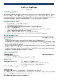 Mechanical Engineering Resume Template Format Download For