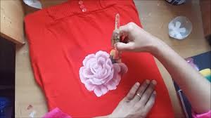 Free Painting Designs One Stroke Fabric Painting Free Hand Floral Design On Fabric