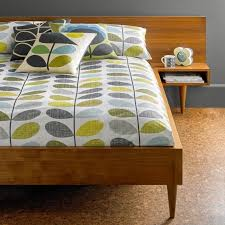orla kiely house scribble stem duck egg seagrass duvet cover double