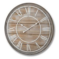 large wooden wall clock image