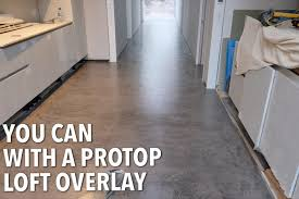 you can polished a screed with a protop loft overlay applied