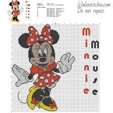 Disney Minnie Mouse Character Big Size Cross Stitch Pattern