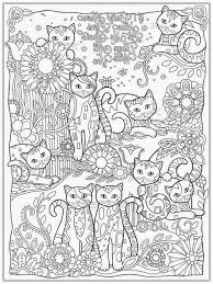Small Picture Coloring Page Cat Coloring Pages For Adults Coloring Page and