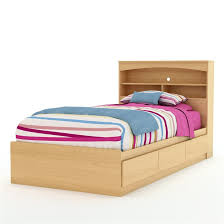 Twin Size Mates Platform Bed Frame in Natural Maple Finish ...