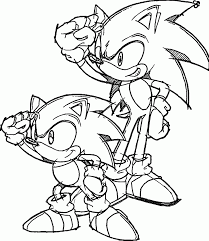 Small Picture Coloring Pages Sonic The Hedgehog Coloring Page Free Download