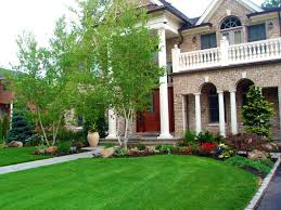 Front Yard Landscaping Ideas With Driveway House Astounding Circular