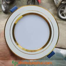 Đèn led âm trần 7w khối đúc TOS TLC viền vàng - 1 màu