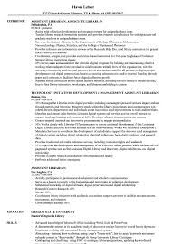 Sample Librarian Resume Assistant Librarian Resume Samples Velvet Jobs 12