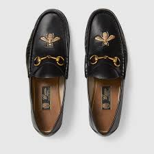 gucci shoes for men bee. gucci leather loafer with bee detail 3 shoes for men o