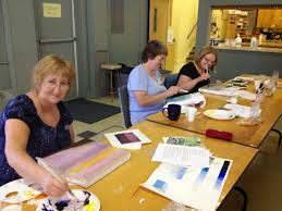 Elm City Quilters' Guild: Peggy Holt's Soymilk and Watercolour Painting  Workshop