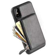 iphone xs wallet case iphone x zipper wallet case lameeku shockproof apple x leather