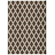 diamond brown beige 5 ft x 7 ft indoor outdoor area rug