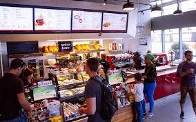 customers at an aroma espresso bar location in toronto brandon gray