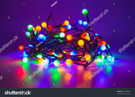 Led Lights All Colors Led Fairy Lights Different Colors Holidays Stock Image